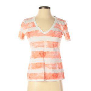Gap Mercer Watercolor Striped V-Neck T-Shirt XS